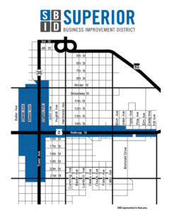 Superior Business Improvement District Map