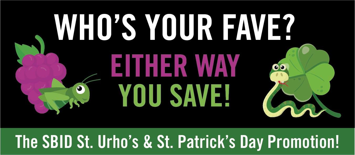 St. Patrick's & St. Urho's Day Specials